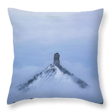 Chimney Rock Rising Throw Pillow