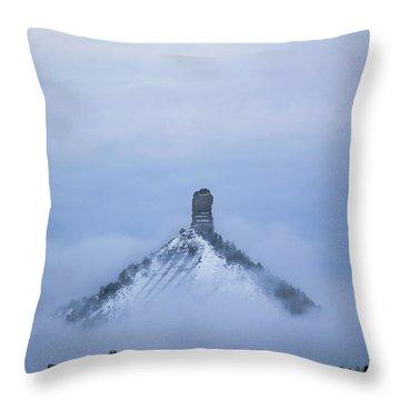Chimney Rock Rising Throw Pillow