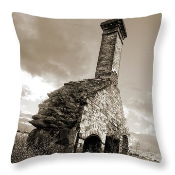 Chimney Ruins Throw Pillow