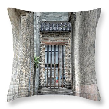 China Alley Throw Pillow