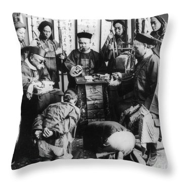 China: Boxer Trial, C1900 Throw Pillow by Granger