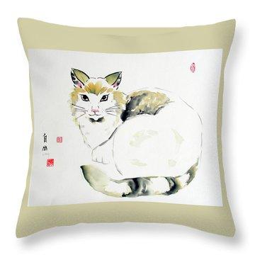 China Cat Throw Pillow