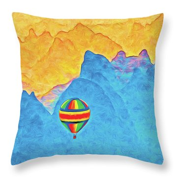 China Flight Throw Pillow by Dennis Cox ChinaStock