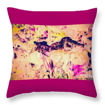 China Garden Throw Pillow