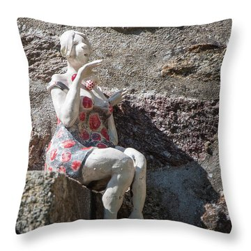 China Girl Throw Pillow