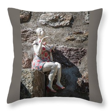 China Girl Throw Pillow