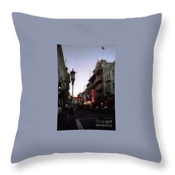 China Town San Francisco  Throw Pillow by Ted Pollard