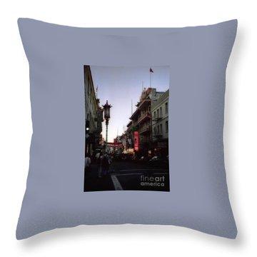 China Town San Francisco  Throw Pillow