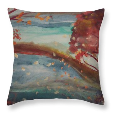 China Tree Throw Pillow by Judith Desrosiers