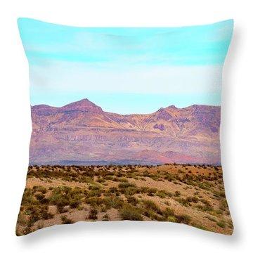 Chinati Range Throw Pillow by Steven Green
