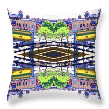 Chinatown Chicago 3 Throw Pillow by Marianne Dow