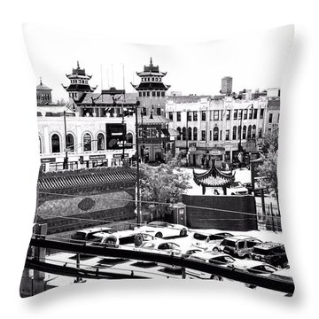 Chinatown Chicago 4 Throw Pillow by Marianne Dow