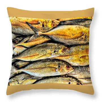 Chinatown Fish Market Nyc Throw Pillow by Steve Archbold