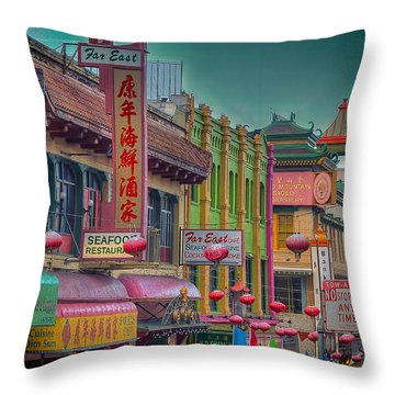 Chinatown Throw Pillow