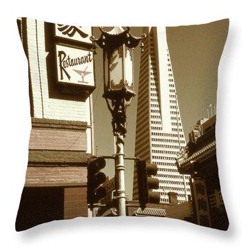 Chinatown San Francisco - Vintage Photo Art Throw Pillow