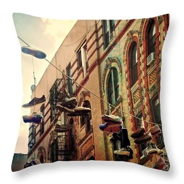 Chinatown Shoe Fling Throw Pillow