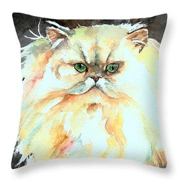 Chinchilla Cat Throw Pillow