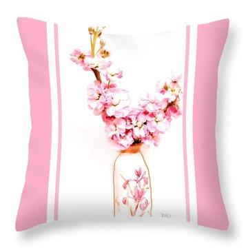 Throw Pillow featuring the digital art Chinese Bouquet by Marsha Heiken