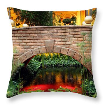 Chinese Bridge Throw Pillow