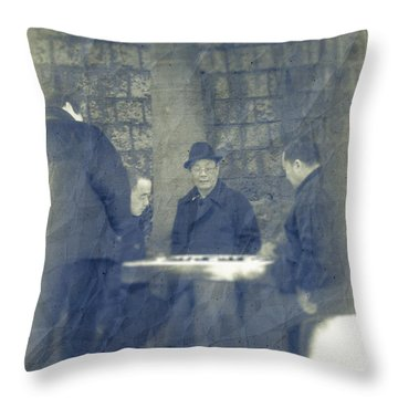 Chinese Chess Players Throw Pillow by Loriental Photography