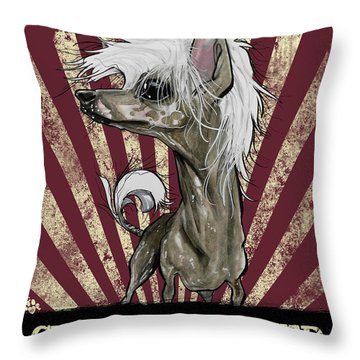 Chinese Crested Revolution Throw Pillow