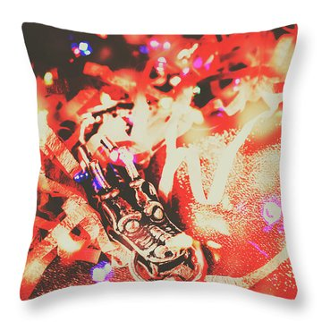 Chinese Dragon Celebration Throw Pillow