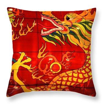 Chinese Dragon Throw Pillow