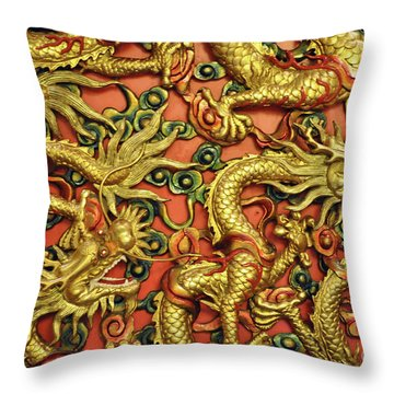 Chinese Dragons Throw Pillow