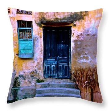 Chinese Facade Of Hoi An In Vietnam Throw Pillow