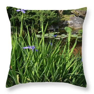 Throw Pillow featuring the photograph Chinese Garden by Carol  Bradley