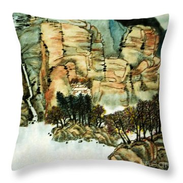 Chinese Landscape #1 Throw Pillow