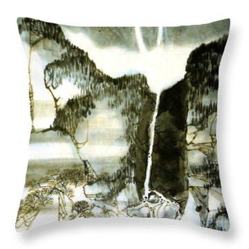 Chinese Landscape #2 Throw Pillow