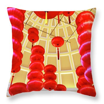 Chinese Lanterns At The Bellagio Throw Pillow