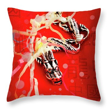 Chinese New Year Background Throw Pillow