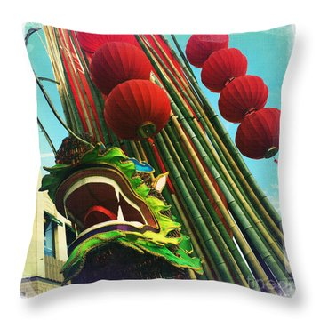 Chinese New Year Throw Pillow by Nina Prommer