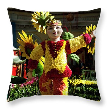 Chinese New Year Throw Pillow by Rae Tucker