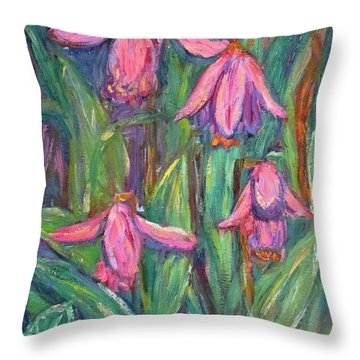 Throw Pillow featuring the painting Chinese Orchids by Kendall Kessler