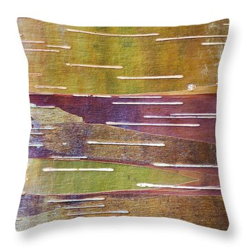 Chinese Red Bark Birch Throw Pillow