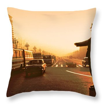 Chinese Traffic Director Ver 1 Throw Pillow