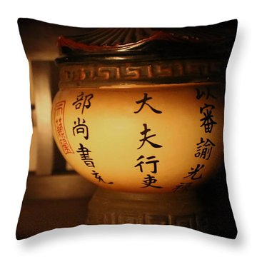 Chinese Vase Throw Pillow