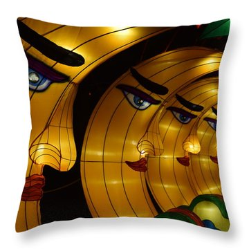 Chinese Moons Throw Pillow