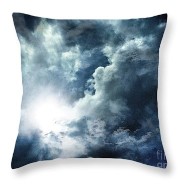 Throw Pillow featuring the photograph Chink Of Light - Spiraglio Di Luce by Zedi