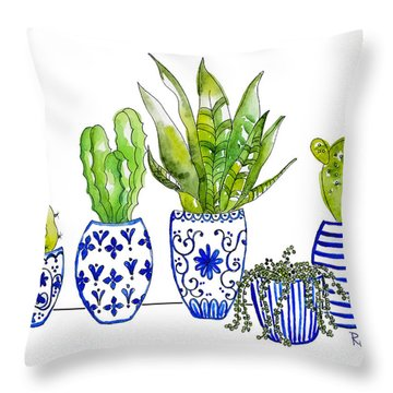 Chinoiserie Collected Throw Pillow