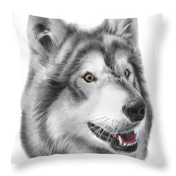 Throw Pillow featuring the drawing Chinook by Peter Piatt