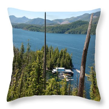 Chinootka Lodge #1 Throw Pillow
