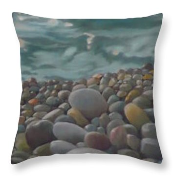 Chios Pebbles Throw Pillow