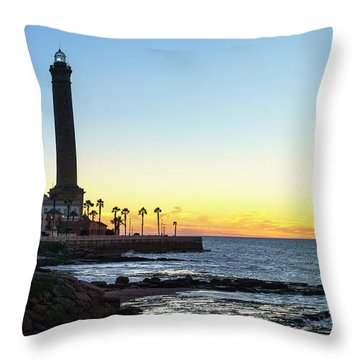 Chipiona Lighthouse Cadiz Spain Throw Pillow