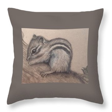 Chipmunk, Tn Wildlife Series Throw Pillow