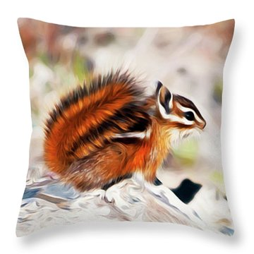 Throw Pillow featuring the digital art Chipper by Timothy Hack