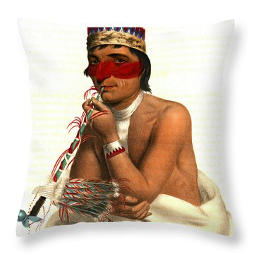 Throw Pillow featuring the photograph Chippeway Chief 1836 by Padre Art